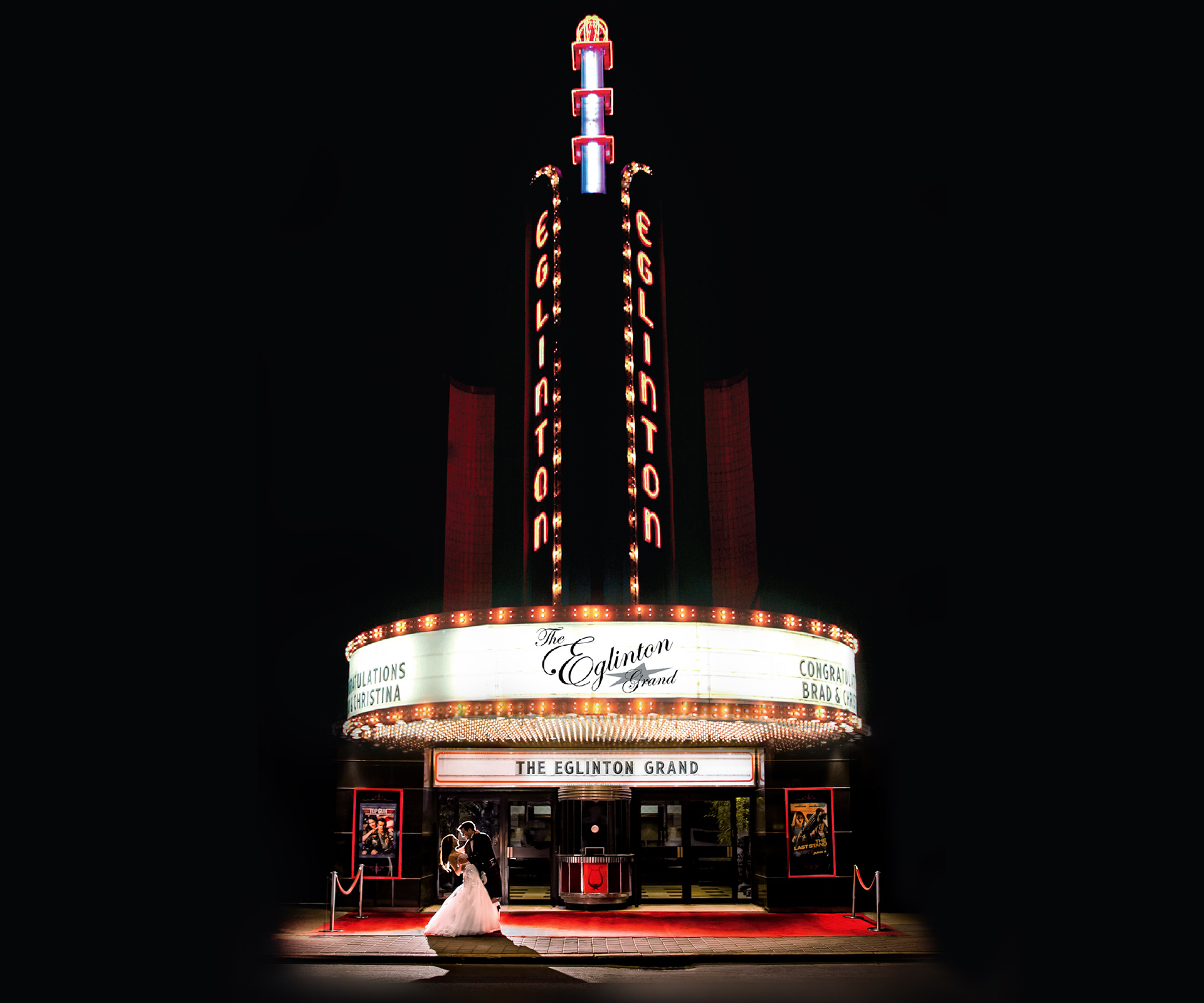 Photo of the Eglinton Grand and marquee.