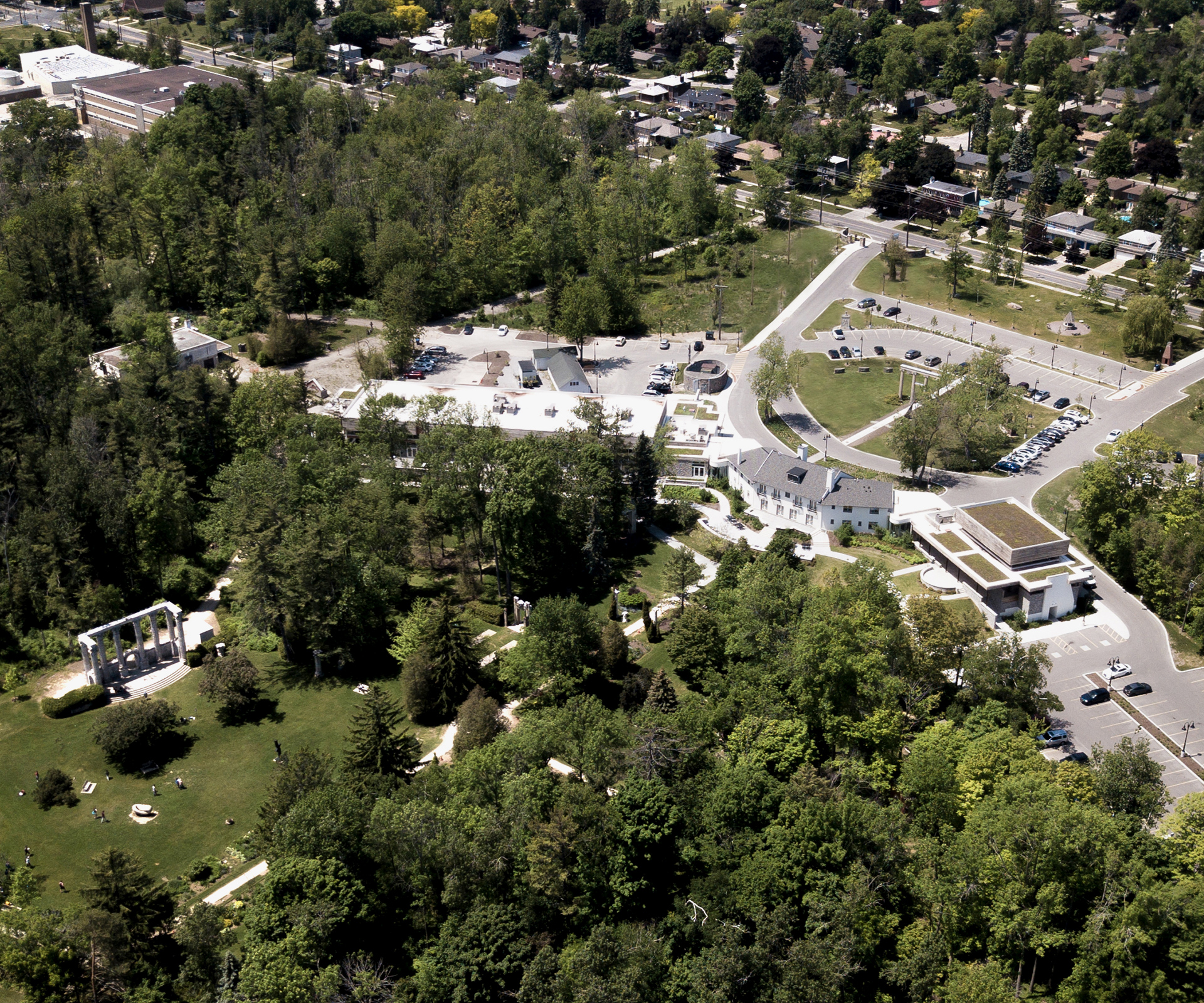 Aerial photo of the Guild Inn Estate.