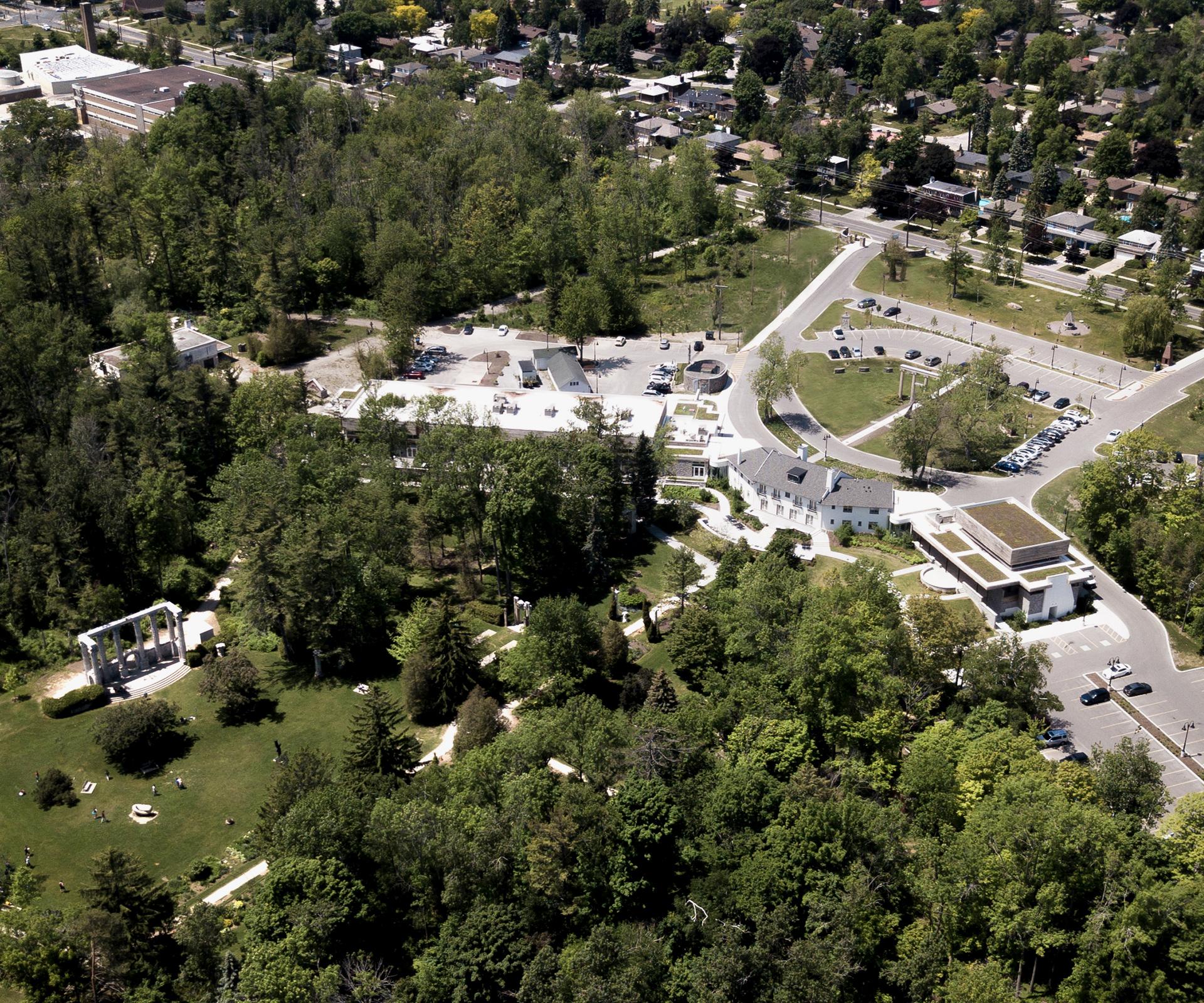 Aerial photo of the Guild Inn Estate.